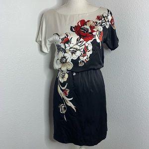 White House Black Market Silk  Floral Dress